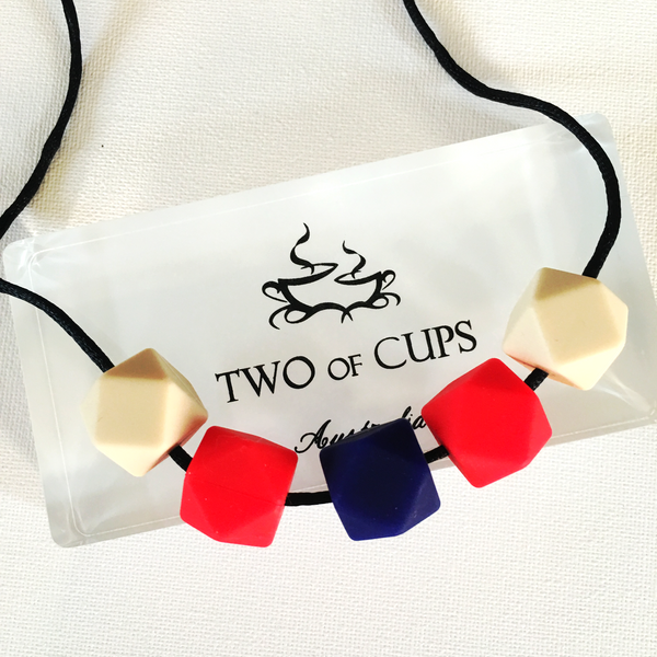 TWO of CUPs Black Raspberry & Vanilla -  Necklace / Necklace & Artisan Soap giftset