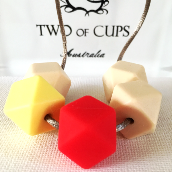 TWO of CUPs Champagne & Strawberry -  Necklace / Necklace & Artisan Soap giftset
