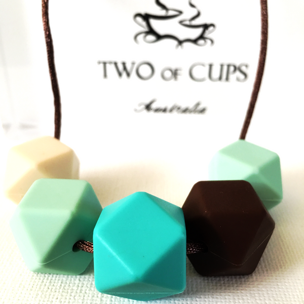 TWO of CUPs Classy n Cool -  Necklace / Necklace & Cupcake giftset