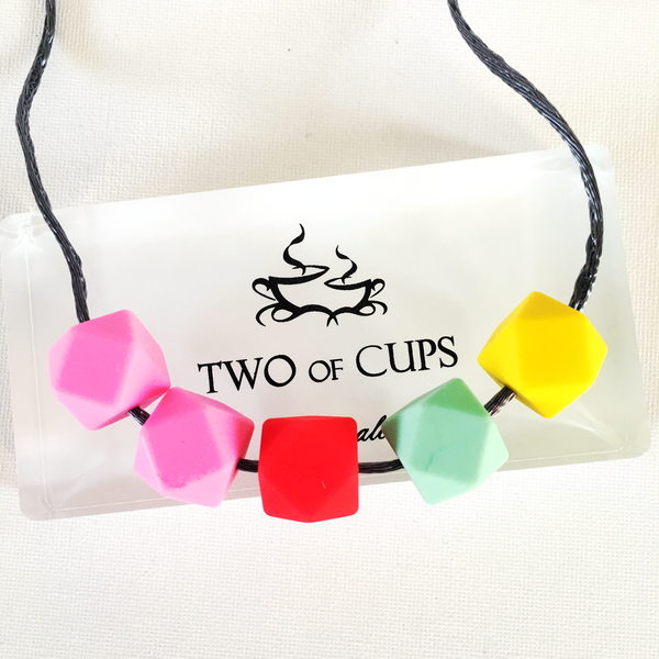 TWO of CUPs Enchanted -  Necklace / Necklace & Cupcake giftset