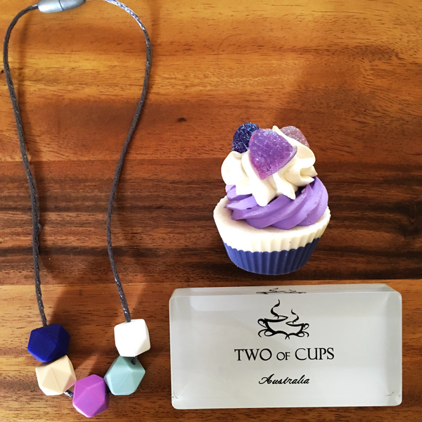 TWO of CUPs Eternity - Necklace / Necklace & Cupcake giftset