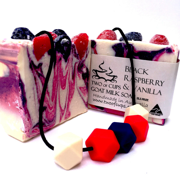 TWO of CUPs Goat Milk Soap and Teething Necklace Gift Set