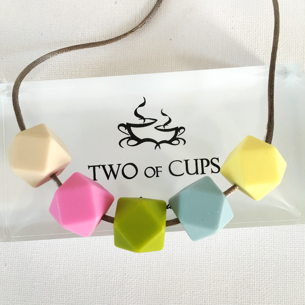 TWO of CUPs Monet's Garden - Necklace / Necklace & Artisan Soap giftset