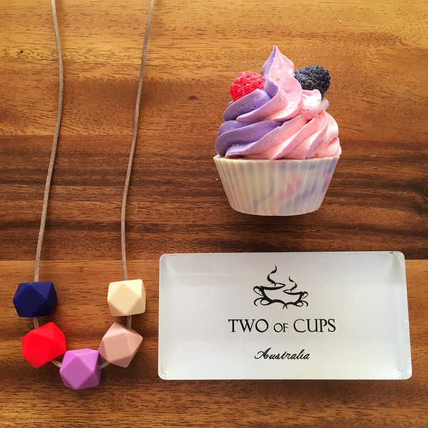 TWO of CUPs Princess - Necklace / Necklace & Cupcake giftset