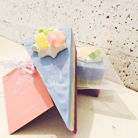 TWO of CUPs Cake Slice GOAT MILK SOAP ~ Baby Baby