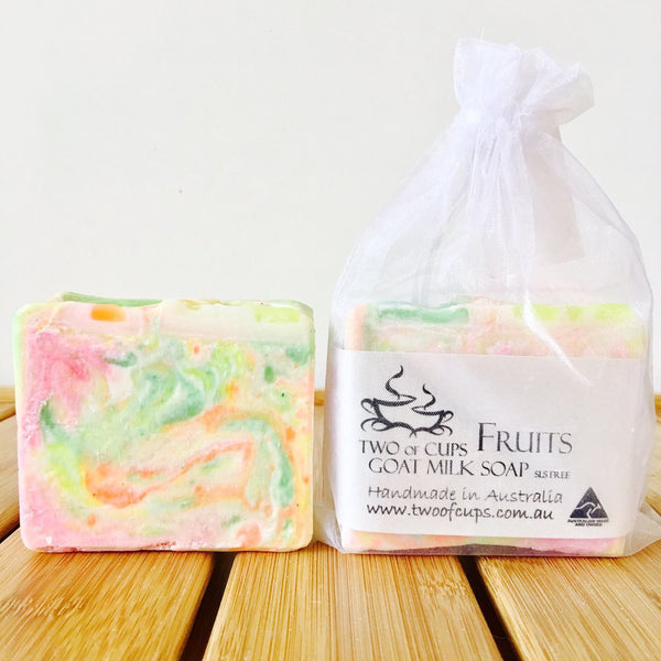 TWO of CUPs GOAT MILK SOAP ~ Fruits