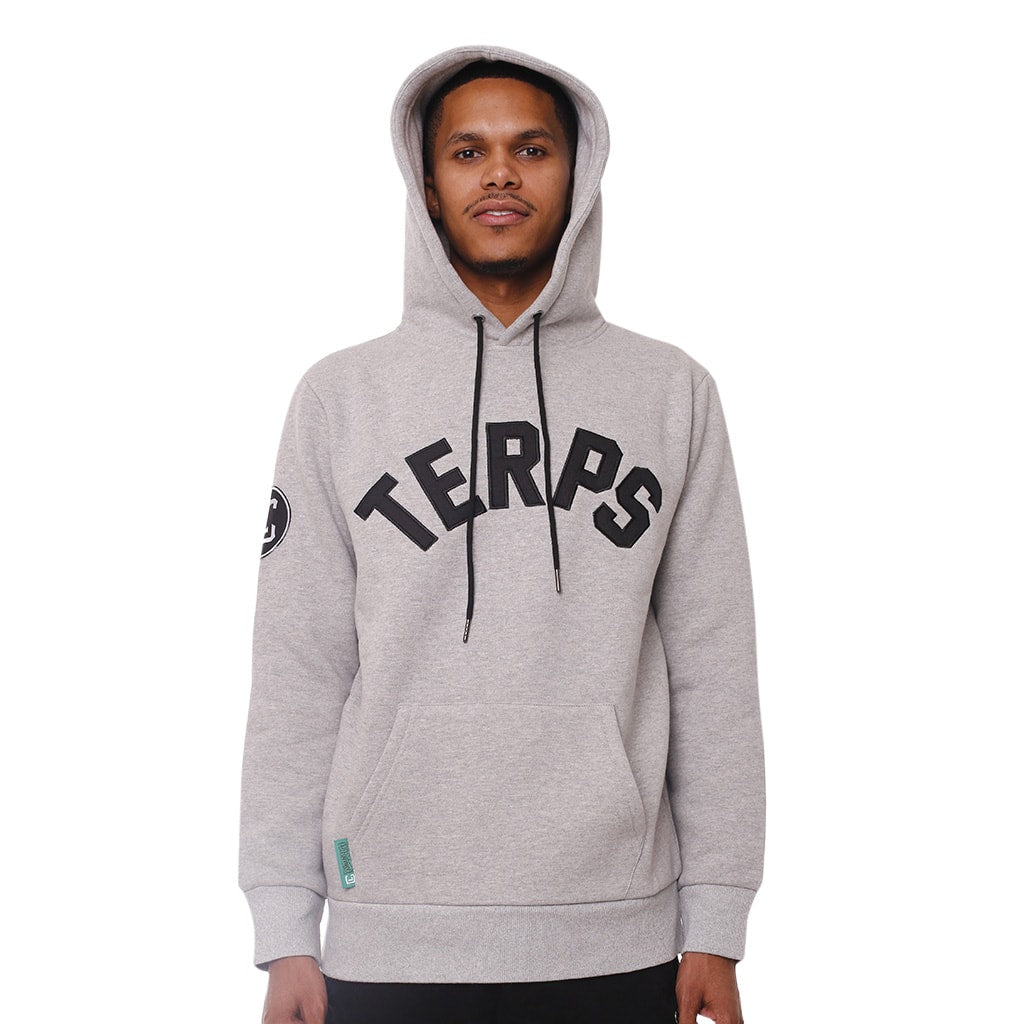 Terps Heather Grey Unisex Hooded Sweatshirt