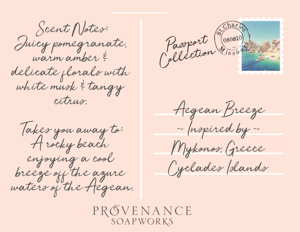 Aegean Breeze Soap Postcard