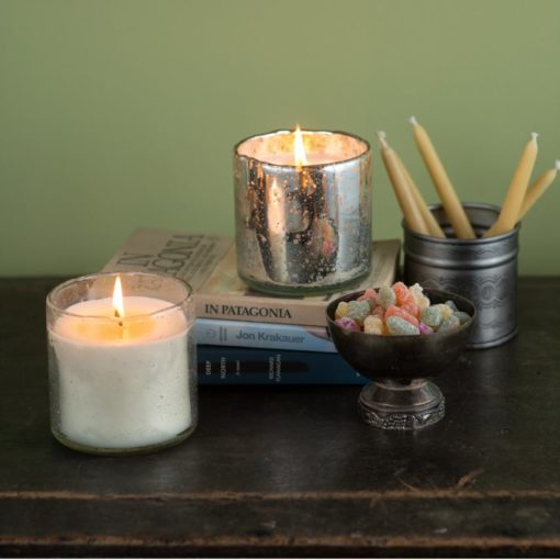 Evergreen Artisan Glass Soy Himalayan Candle