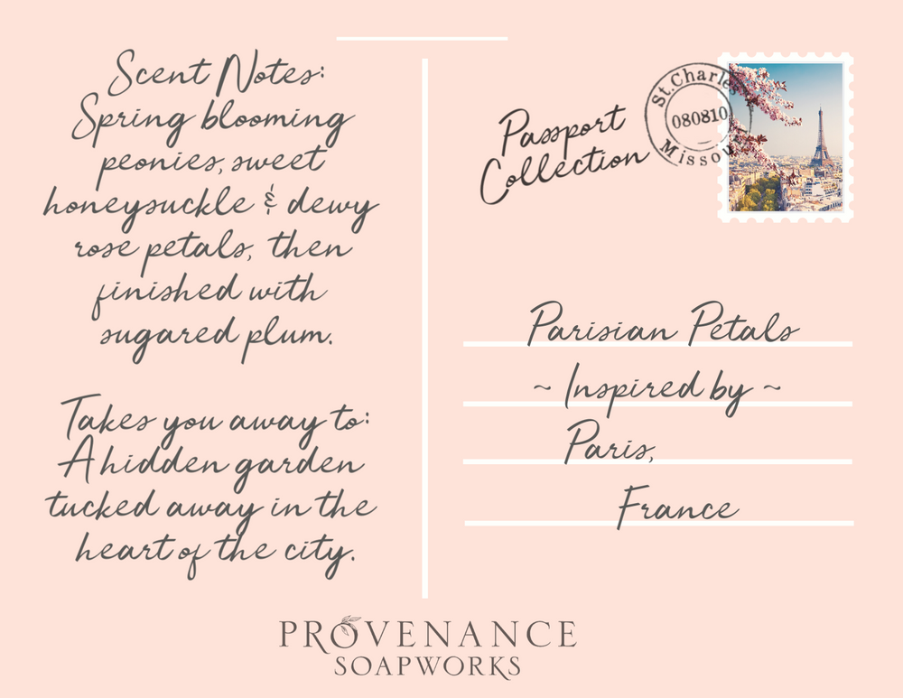 Parisian Petals Soap Postcard