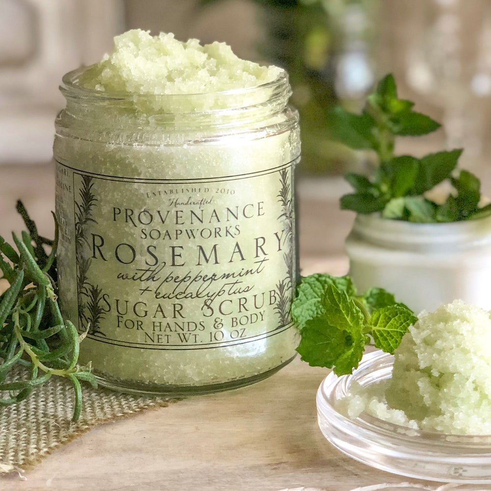 Rosemary with Peppermint Sugar Scrub