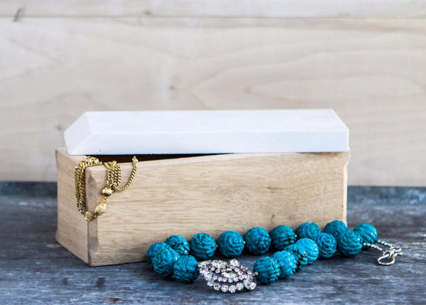 Wood and Stone Jewelry Box