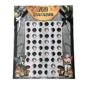 2020 Lunar Calendar Moon Calendar - 8x10 with gold edges