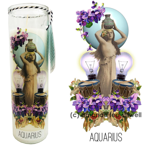 "Astrology Candle:  ""Aquarius"""