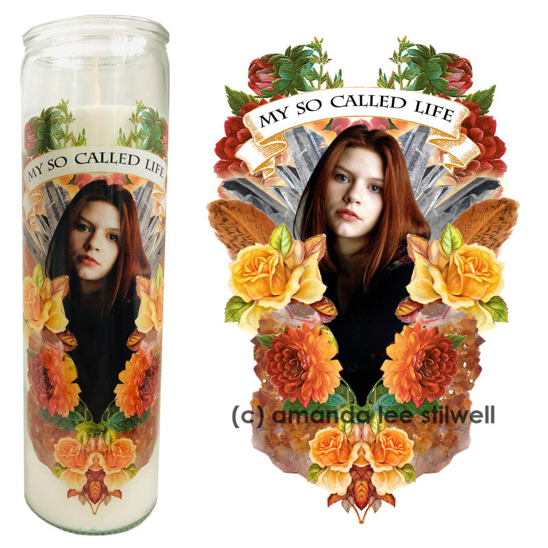 Pop Culture Altar Candle:  Angela My So Called Life