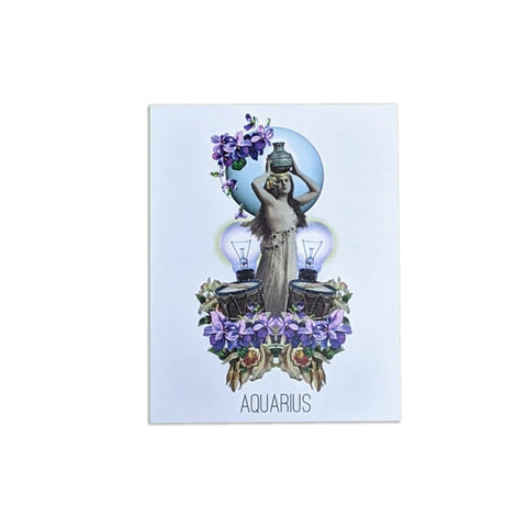 Astrological Greeting Card: Aquarius