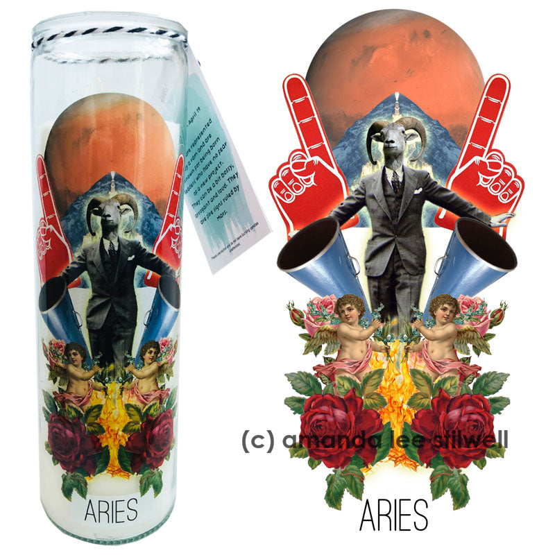 "Astrology Candle:  ""Aries"""