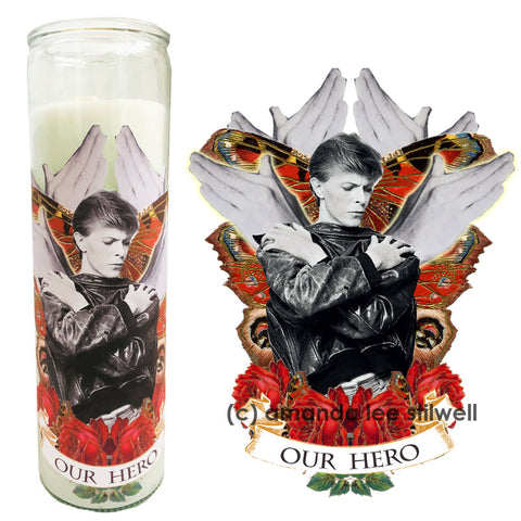 "SPECIAL EDITION - Hero Bowie Candle ""Our Hero"""