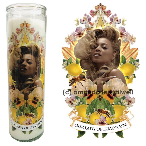 "Pop Culture Altar Candle:  ""Our Lady of Lemonade"""