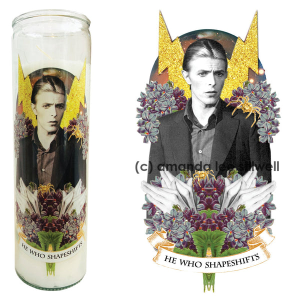 "Pop Culture Altar Candle: ""He Who Shapeshifts"""