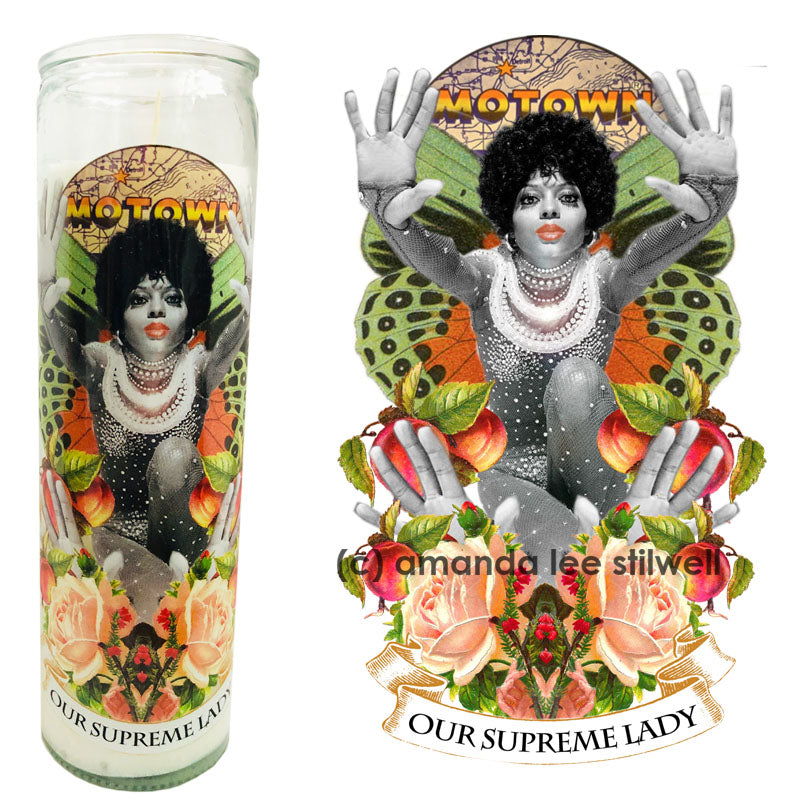 "Pop Culture Altar Candle:  ""Our Supreme Lady"""