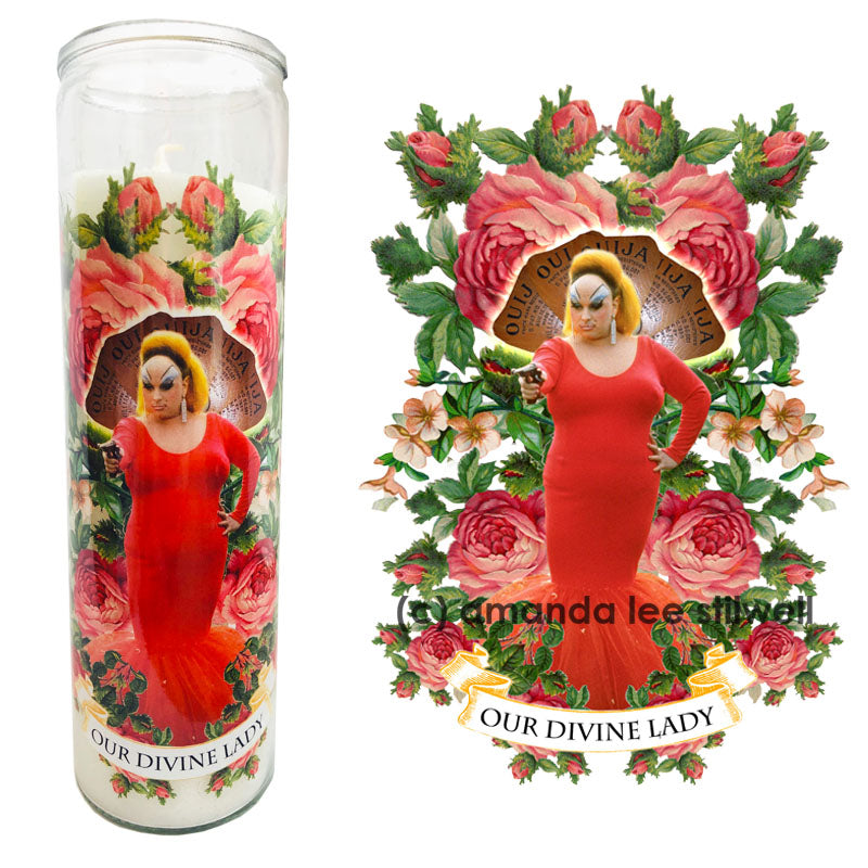 "Pop Culture Altar Candle:  ""Our Divine Lady"""