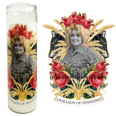 "Pop Culture Altar Candle:  ""Our Lady of Tennessee"""