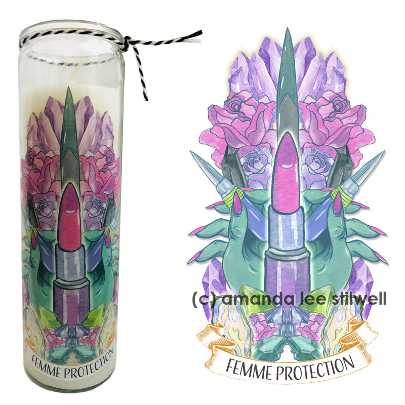 "Spell Candle:  ""Femme Protection"""