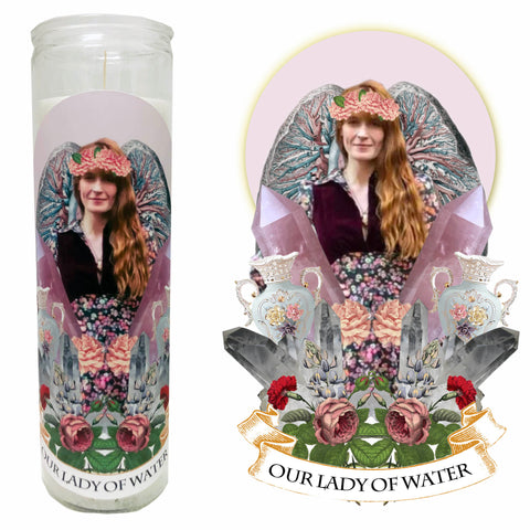 "Pop Culture Altar Candle:  ""Our Lady of Water"""