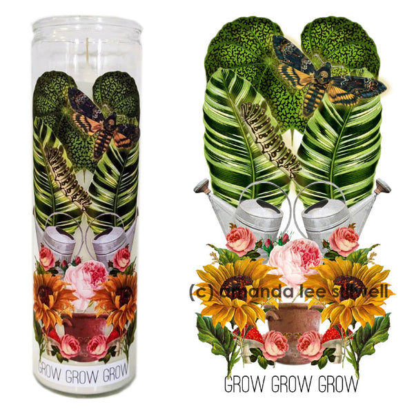 "Spell Candle:  ""Grow Grow Grow"" Growth"
