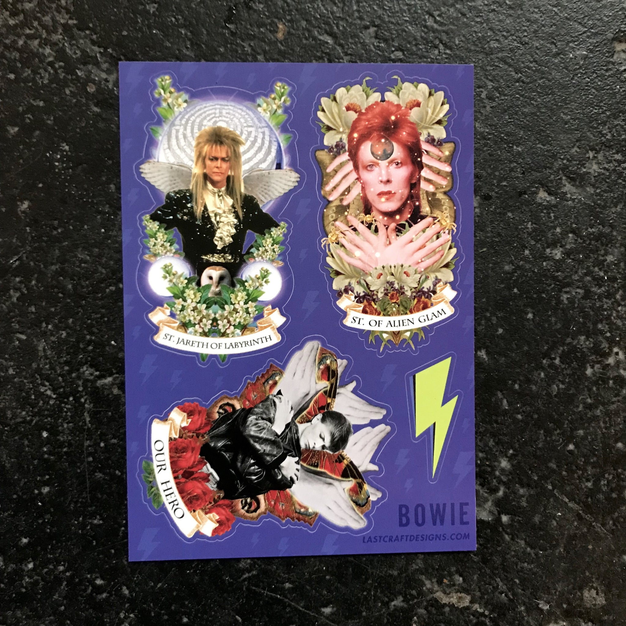 Bowie Sticker Sheet - 5x7 Vinyl Stickers