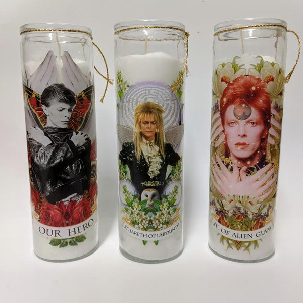 "SPECIAL EDITION Glam Bowie Candle ""St. of Alien Glam"""