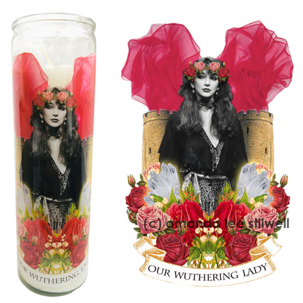 "Pop Culture Altar Candle:  ""Our Wuthering Lady"""