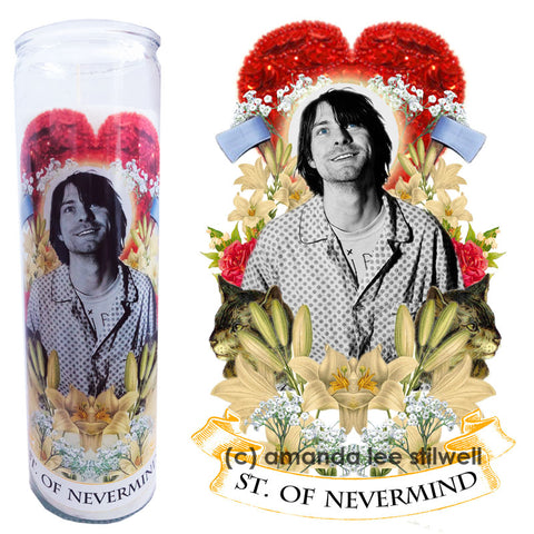 "Pop Culture Altar Candle: ""Saint of Nevermind"""