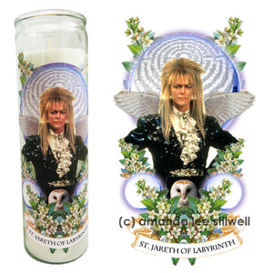 "SPECIAL EDITION - Labyrinth Bowie Candle - ""St. Jareth of Labyrinth"""