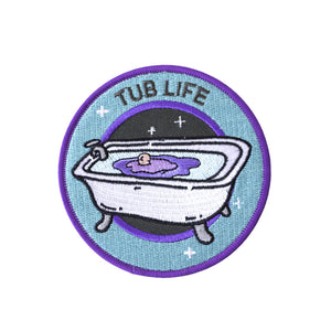 "PATCH - Bath Tub with Bath Bomb ""TUB LIFE"" *ORIGINAL DESIGN*"