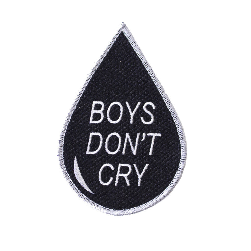 "Boys Don't Cry Patch - LARGE (5"" tall)"