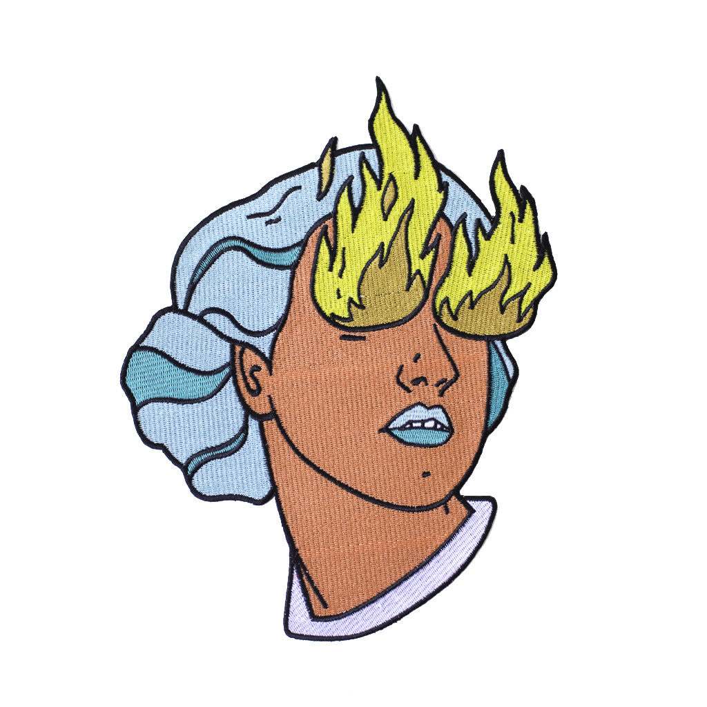 Fire Eye Girl Back Patch *ORIGINAL DESIGN*