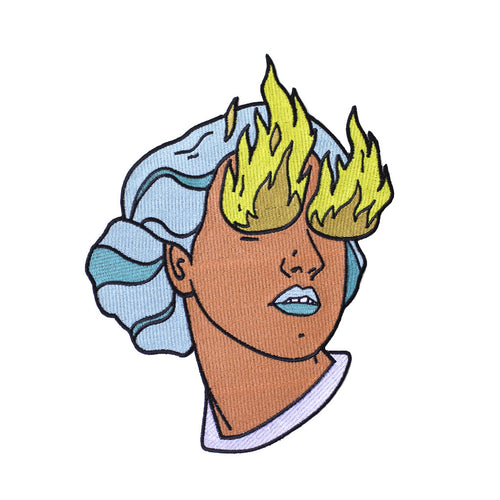 Fire Eye Girl Back Patch