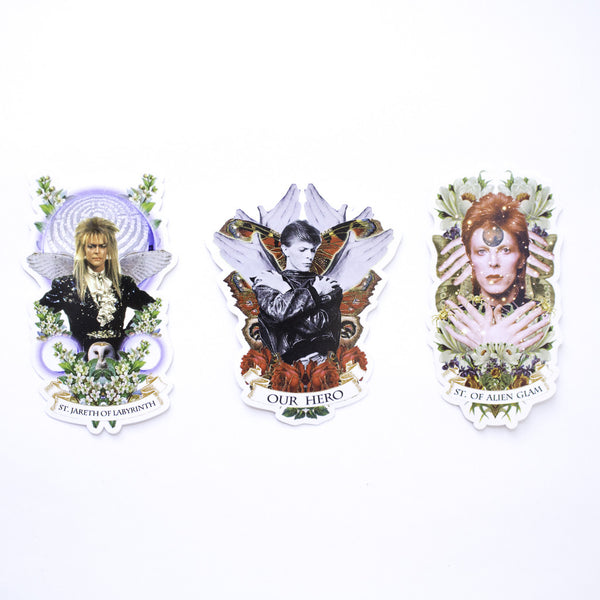 Bowie Small Stickers