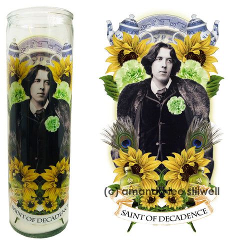 Pop Culture Altar Candle: Oscar Wilde: Saint of Decadence