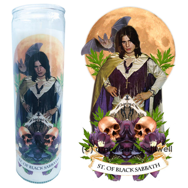 "Pop Culture Altar Candle:  ""Saint of Black Sabbath"""