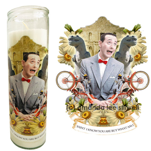 "Pop Culture Altar Candle:  ""Saint I Know You Are But What Am I"""