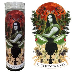 "Pop Culture Altar Candle:  ""St. Of Bloody Kisses"""