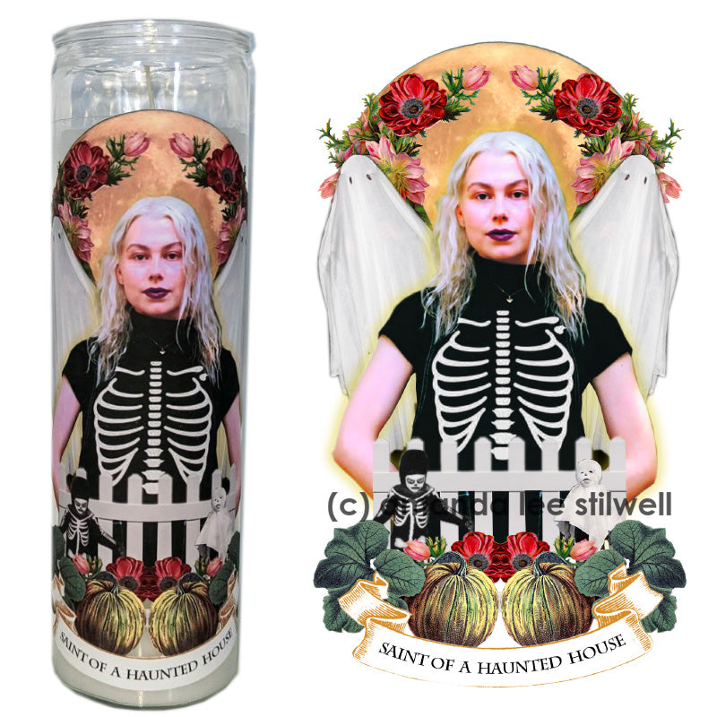 "Pop Culture Altar Candle:  ""Saint of a Haunted House"""