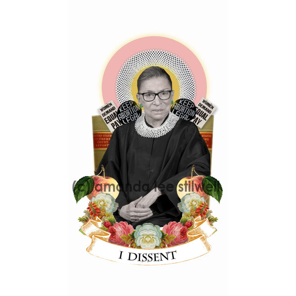 "Pop Culture Altar Candle:  ""I Dissent"" RBG"