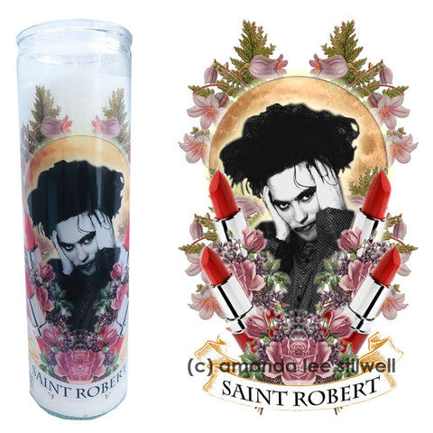 "Pop Culture Altar Candle:  ""Saint Robert"""