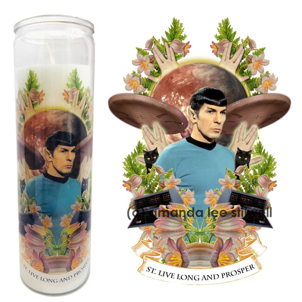 "Pop Culture Altar Candle:  ""St. Live Long and Prosper"""
