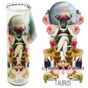 "Astrology Candle:  ""Taurus"""
