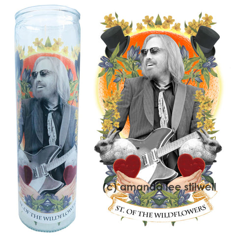 "Pop Culture Altar Candle:  ""Saint of Wildflowers"